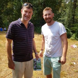 David Gauke, MP for SW Herts, Secretary of State for Justice and Lord Chancellor with our Chairman at Chorleywood Village Day, 2018